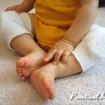 Homemade knee pads for babies
