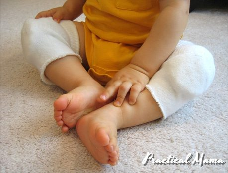 diy homemade knee pads for crawling babies