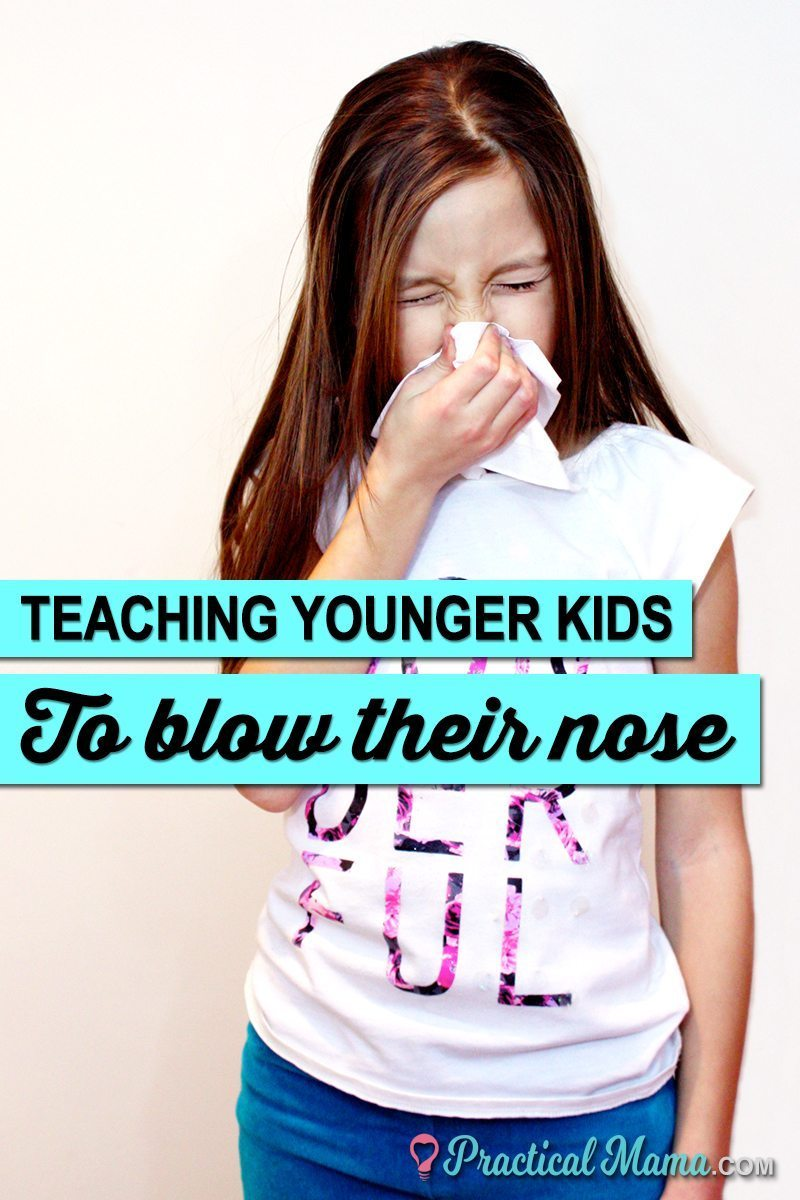How do I teach my child to blow their nose?