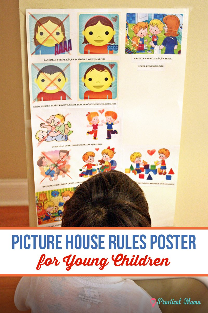 house rules poster for children