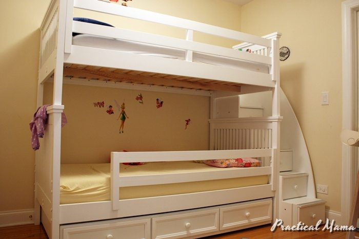 Moving into new bunk beds