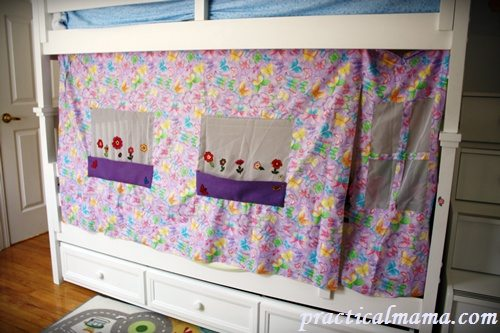 Decorative bunk bed curtains for children | Practical Mama