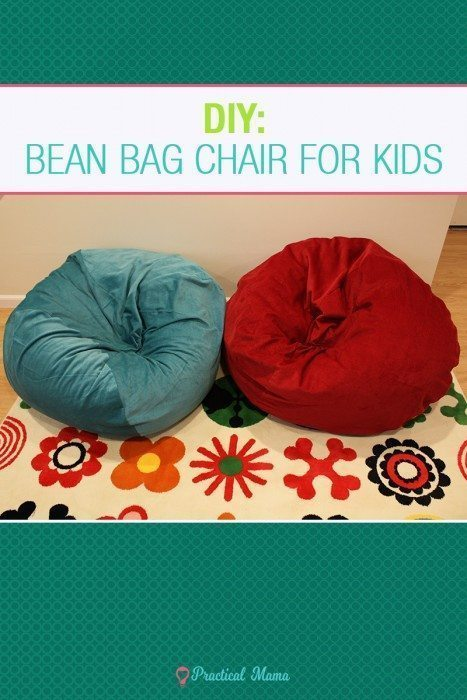 diy bean bag chair for children practical mama. Black Bedroom Furniture Sets. Home Design Ideas