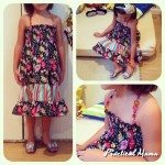 Beaded summer dress for girls