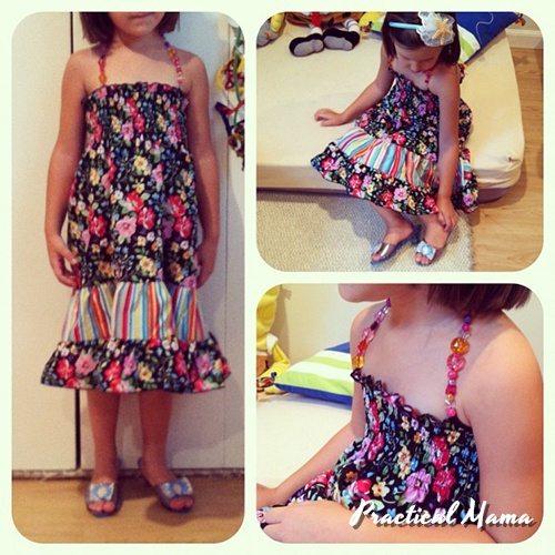 Beaded summer dress for girls