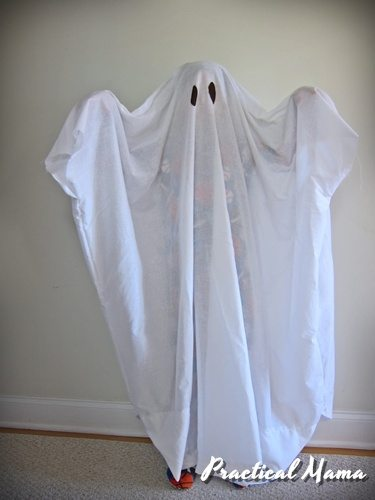 Ghost costume for kids- DIY