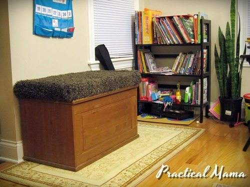 Repurpose: From toy chest to ottoman bench