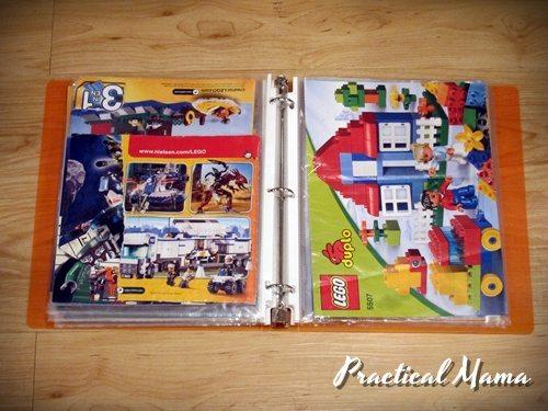 Organizing LEGO instruction booklets