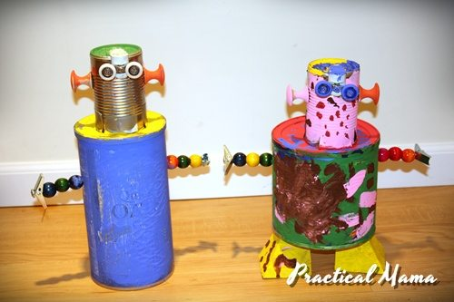 How to make toy robots from used materials