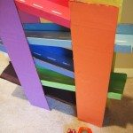 Cardboard toy: Multi-level racing track