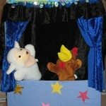 Cardboard Box Puppet Theater