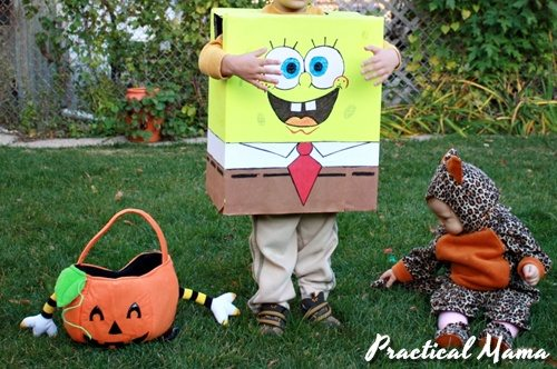 DIY: Spongebob Squarepants costume for kids