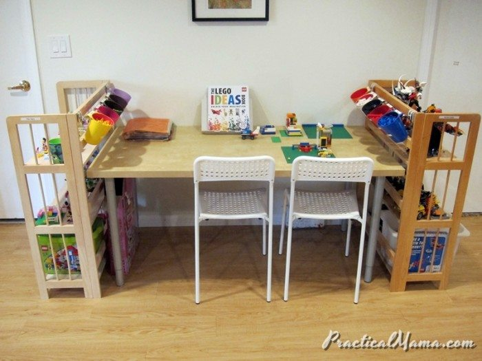 DIY LEGO Table And Storage Practical Mama