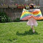 Easy butterfly wing cape for children