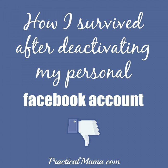 DeactivatedmyFacebookAccount