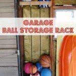 DIY Garage Ball Storage Rack