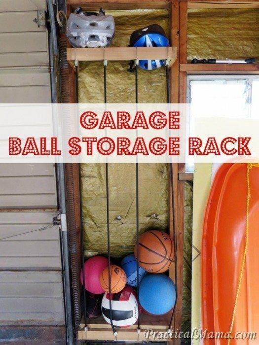 Garage Ball Storage Rack
