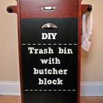 DIY: Trash bin with butcher block