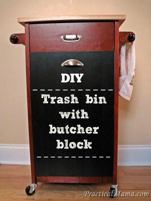 Trashbinwithbutcherblock