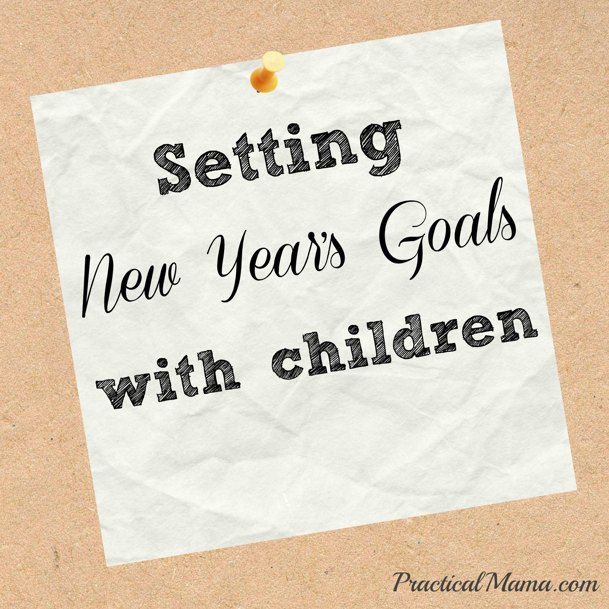 Setting new year's goals with children