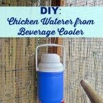 DIY: Chicken Waterer from Beverage Cooler