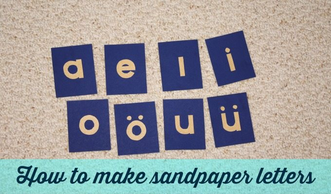 Sandpaper Letters