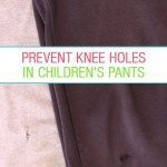 How to prevent knee holes in pants