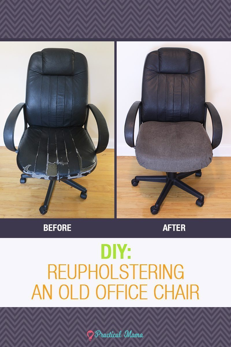 DIY: Reupholstering the old office chair
