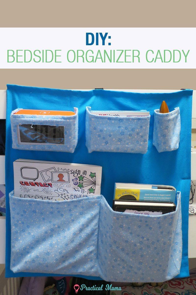DIY: Bedside organizer caddy with printable pattern