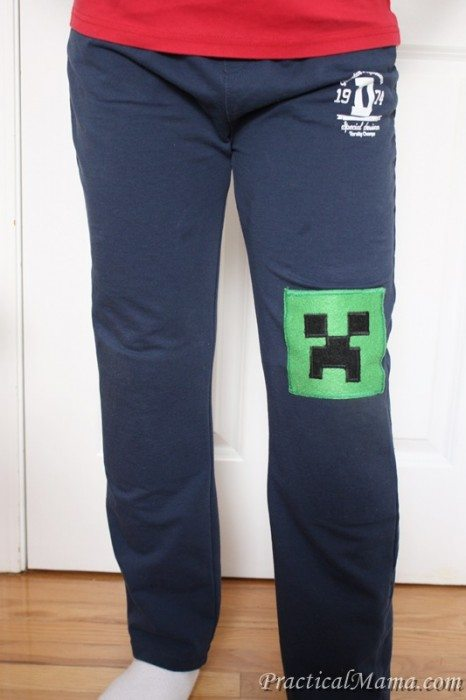 diy minecraft knee patch