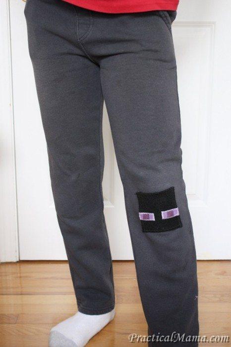 diy minecraft knee patch