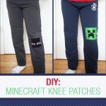 DIY: Minecraft knee patch for kids - w/ printable pattern