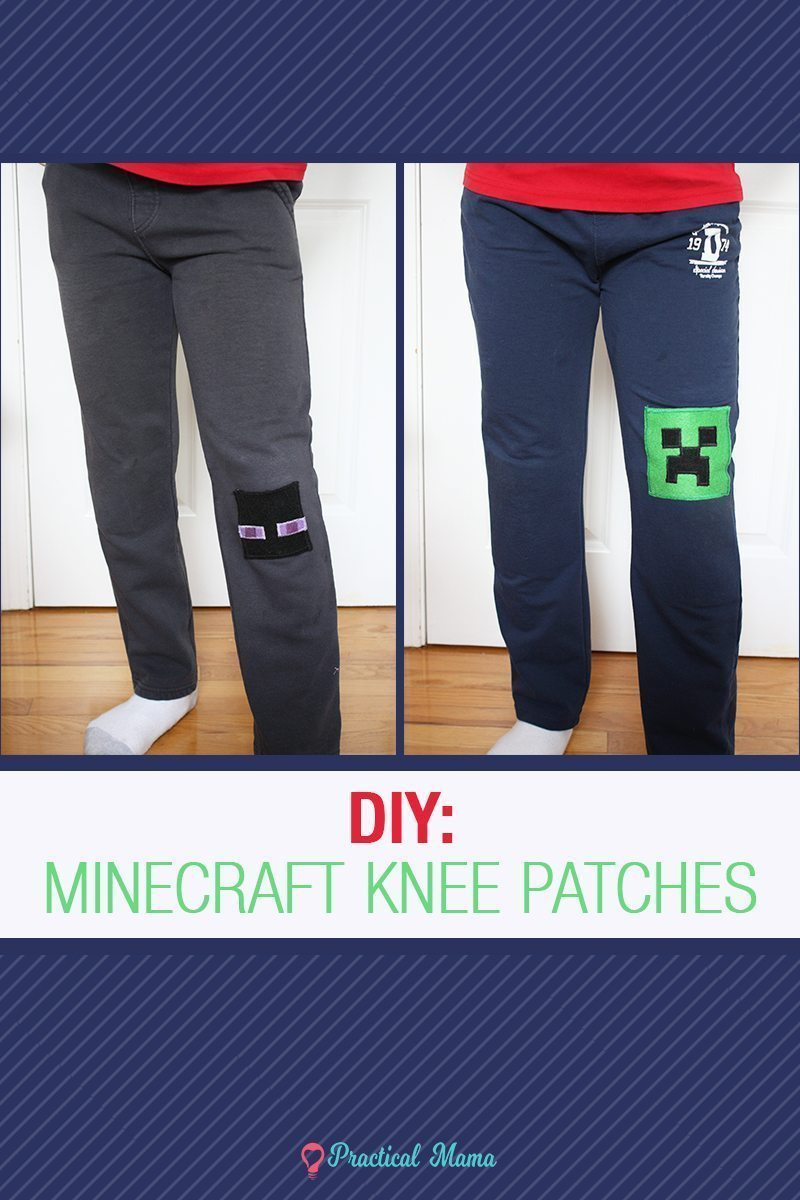 Diy Minecraft Knee Patch For Kids W Printable Pattern