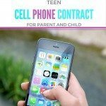Teen cell phone contract with printable sample