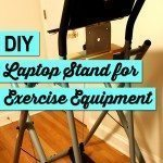 DIY Fitness Equipment laptop stand