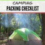 Camping Packing Checklist (Printable)