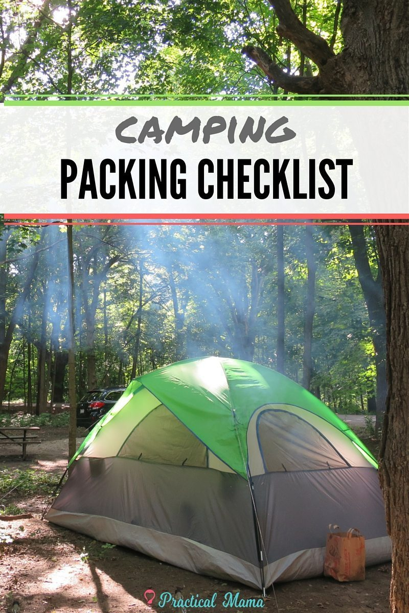 camping packing checklist  printable