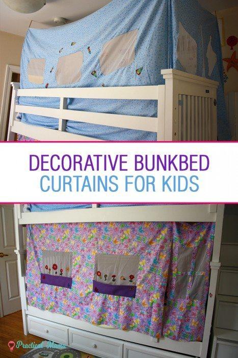 Decorative bunk bed curtains