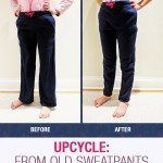 Upcycle: Sweatpants to leggings