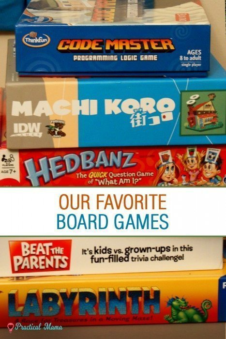 Favorite board games for kids