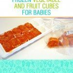 Frozen vegetable cubes for babies