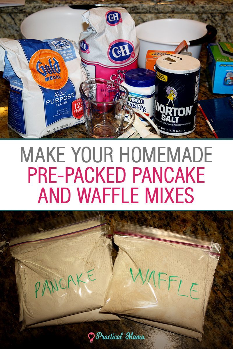 Make Your Own Homemade Pre Packed Waffle And Pancake Mix