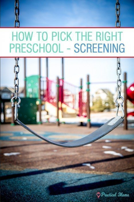 Preschool screening criteria