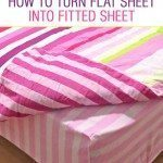 How to turn flat sheets into fitted sheets