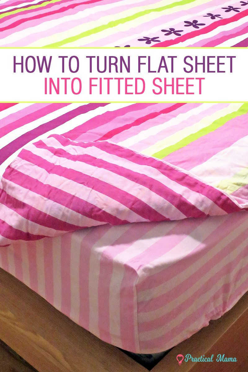 how to turn a flat bed sheet into a fitted sheet