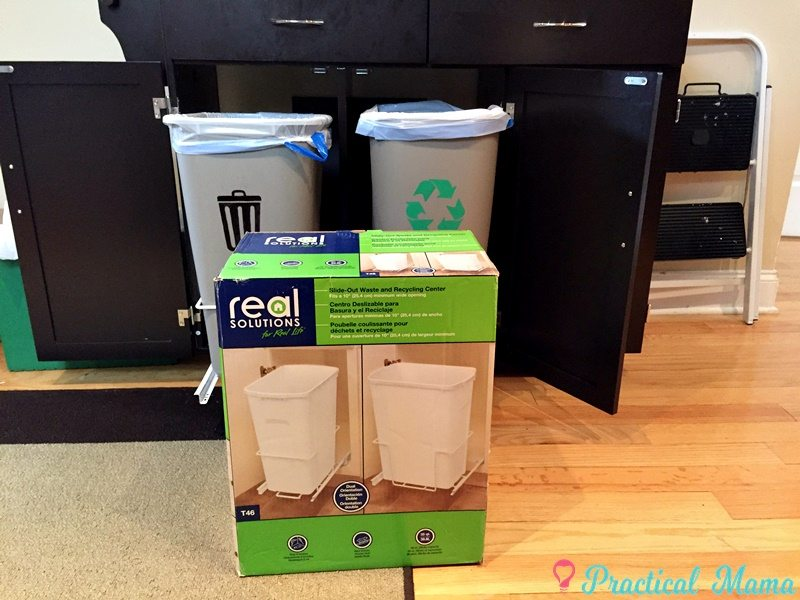 DIY: Trash and Recycling Center - Practical Mama