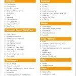 Packing list for traveling with school age children