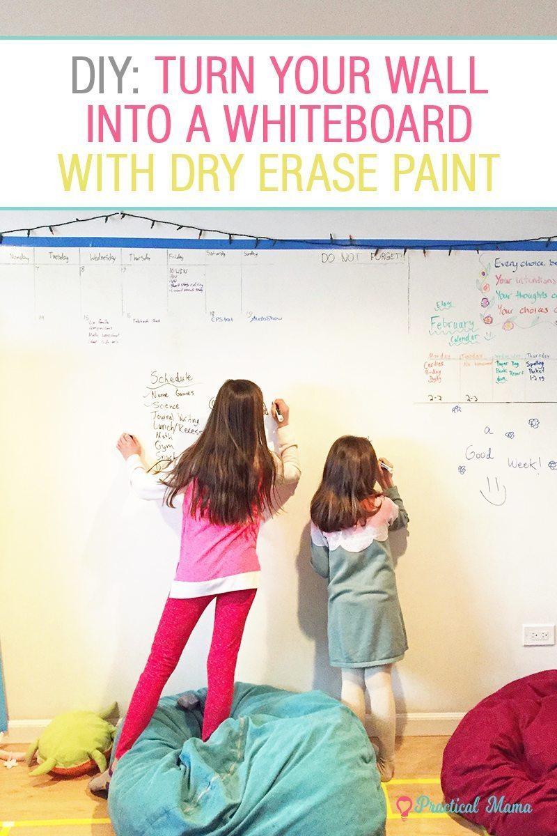 diy dry erase whiteboard wall