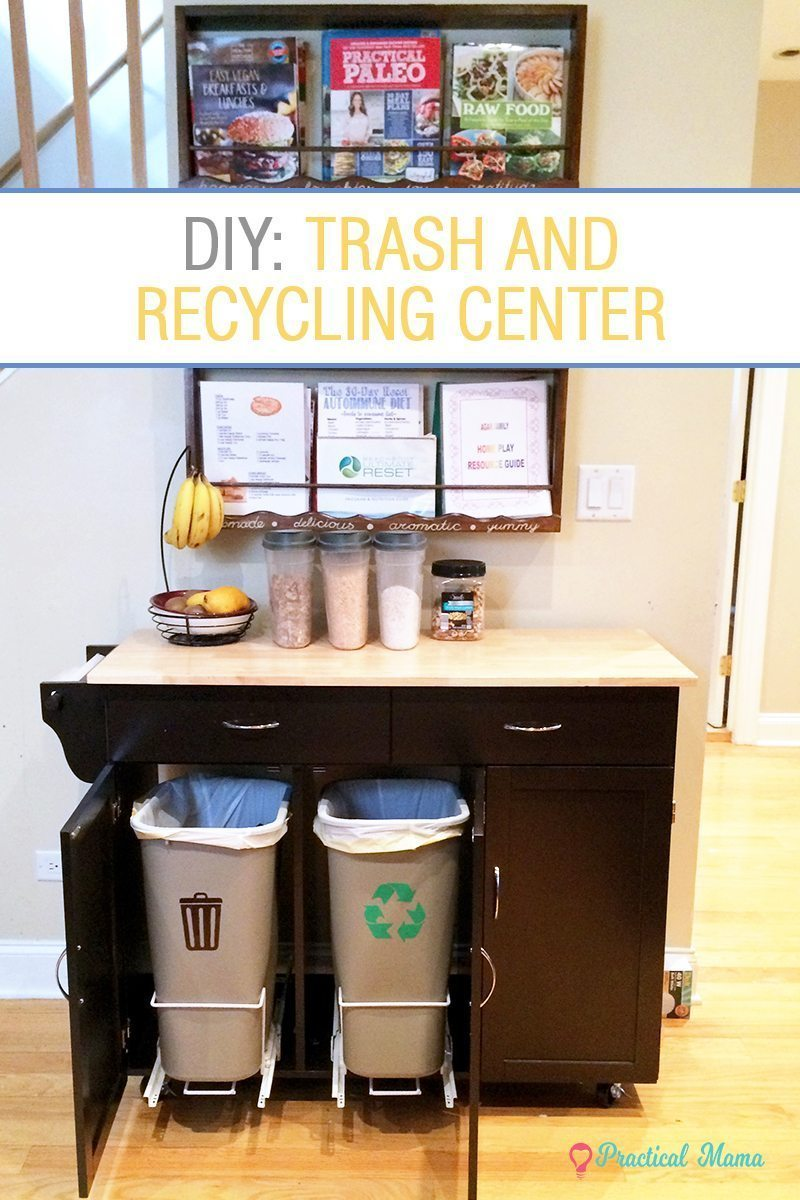 DIY trash and recycling center - Practical parenting tips