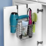 over the cabinet door hair dryer and accessory rack